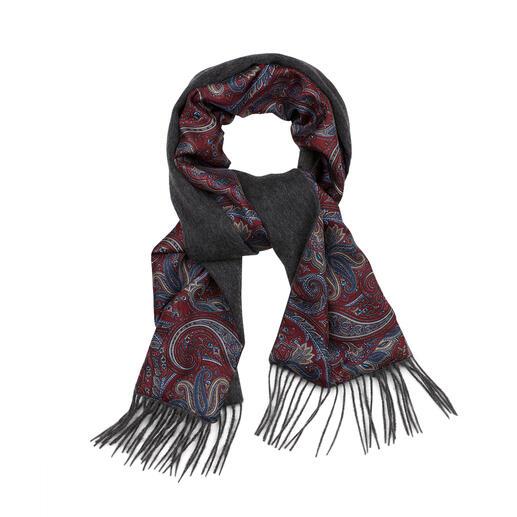 Châle d'hiver double-face Ascot Une élégante écharpe en soie peut être aussi chaude. Une écharpe en laine chaude peut être si élégante.