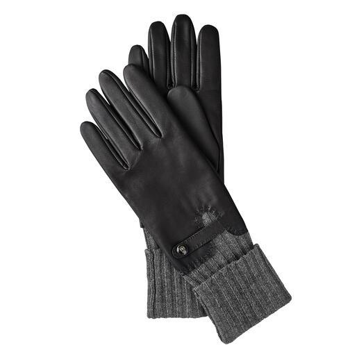 Gants avec manchette Roeckl Une protection constante contre le froid : les gants en cuir noble avec manchette intégrée. De Roeckl.