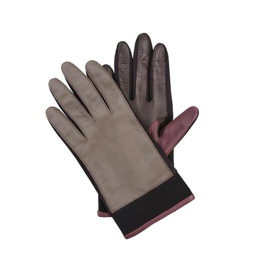 Gants en cuir d'agneau et néoprène Otto Kessler Les inserts en néoprène rendent ce gant en cuir beaucoup plus souple.