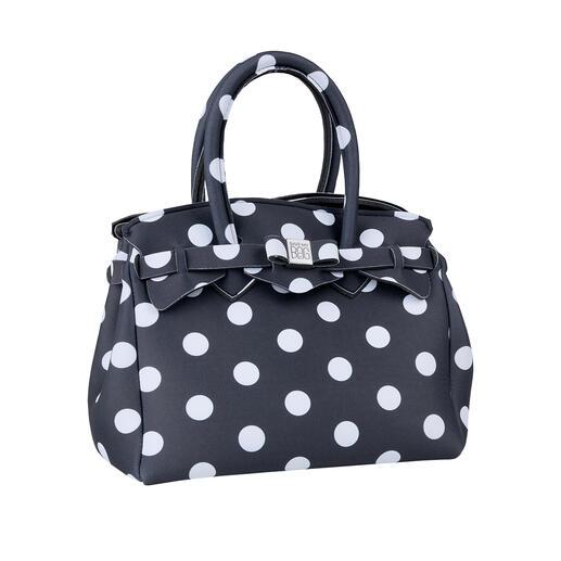 Mini sac ultraléger, à pois Look classique, matériau innovant : ce sac à main ultra léger ne pèse que 215 grammes.