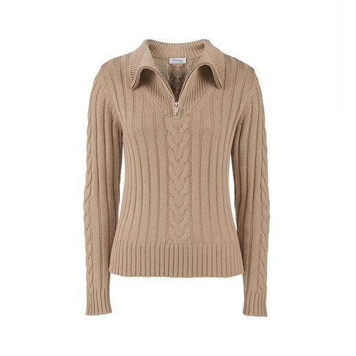 Pull camionneur en laine et soie Les pulls camionneurs traditionnels en tricot sont rarement si modernes et si féminins.