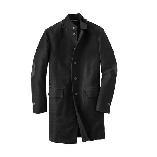 Manteau de cuir Hannes Roether Le cuir allemand traditionnel rend ce manteau exceptionnellement résistant. Par Hannes Roether/Allemagne.