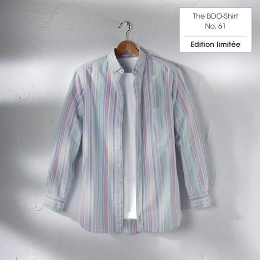 The BDO-shirt, Limited Edition No. 61 Redécouvrez une bonne vieille amie. Et oubliez qu'une chemise doit être repassée.