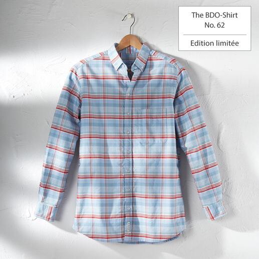 The BDO-shirt, Limited Edition No. 62 Redécouvrez une bonne vieille amie. Et oubliez qu'une chemise doit être repassée.