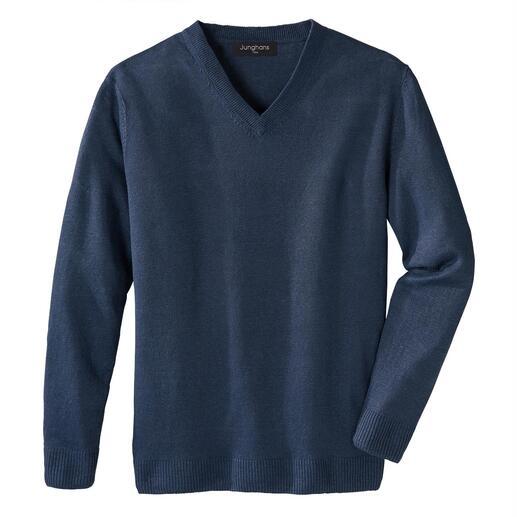 Pull basique en lin Junghans 1954 Votre pull basique estival – une rareté en pur lin. Fabriqué en Irlande. De Junghans 1954.
