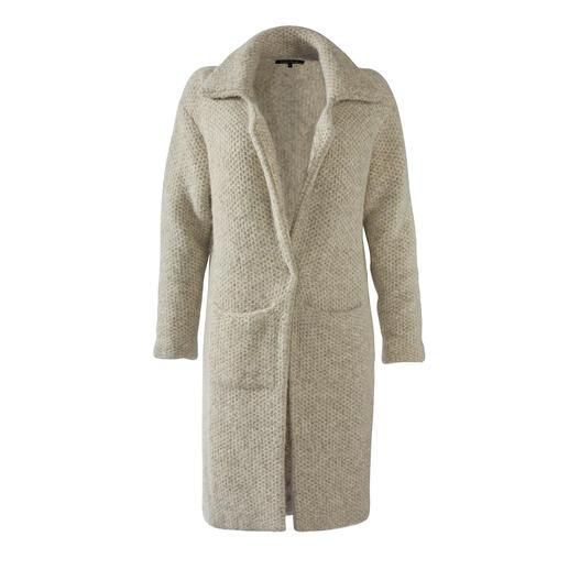 Manteau en tricot alpaga/coton Pima Kero Design Chaud, robuste et résistant à la saleté grâce à l'alpaga. Léger, doux et stable grâce au coton Pima.