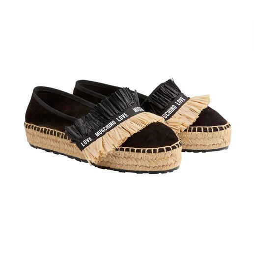 Espadrilles en suède Love Moschino Les espadrilles indéniablement créatives parmi les classiques des chaussures estivales populaires.