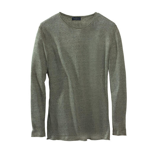 Pull-over d'été Smart-casual Un poids plume de 150 grammes incroyablement polyvalent. Pull-over aéré en tricot fin, à base de lin pur.
