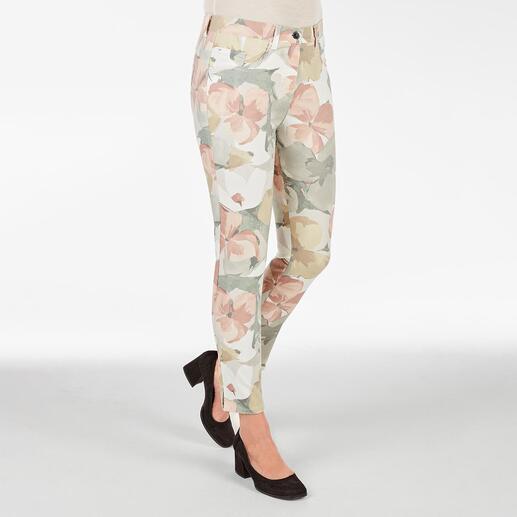 Pantalon ceinture magique RAPHAELA-BY-BRAX, Big Flowers Votre pantalon grand confort : le pantalon avec ceinture magique de RAPHAELA-BY-BRAX.