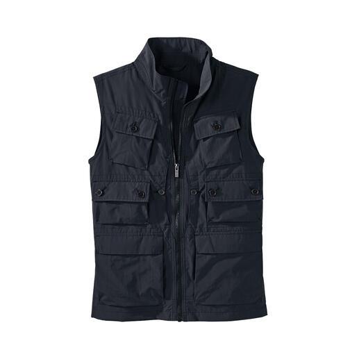 Gilet 10 poches 10 poches pratiques. Et une protection contre les rayons UV nocifs.