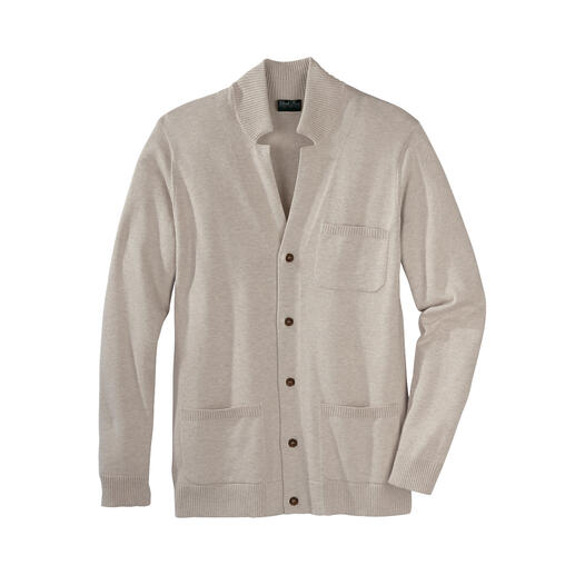Cardigan en coton Pima Le coton Pima exquis rend ce cardigan basique incroyablement doux et durable.