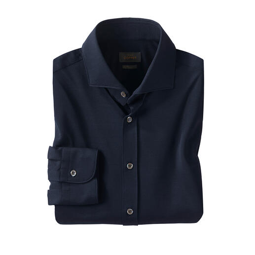 Chemise en piqué de jersey Edward Copper Fonctionnel et écologique : la première chemise fabriquée à partir de la fibre révolutionnaire EVO®.