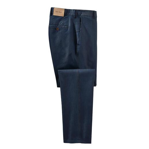 Jean en soie Enrichi de soie : le jean de luxe pour l'été. Plus lisse, plus doux, plus aéré et plus présentable.