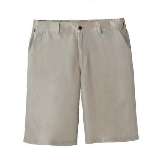 Short en lin Tencel™ Lin + Tencel™ + coton = plus aéré, plus doux et plus frais.