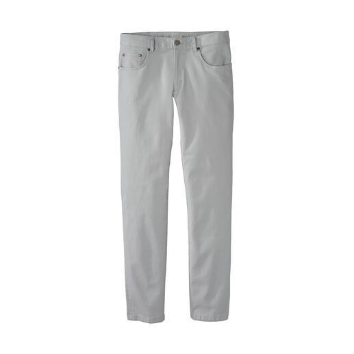 Pantalon 5 poches en piqué gaufré En tissu piqué gaufré fin avec une structure micro-fine en nid d'abeille.