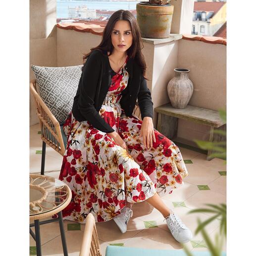 Robe fleurs de pavot Samantha Sung Légère mousseline de coton avec motif fleurs de pavot intemporel.