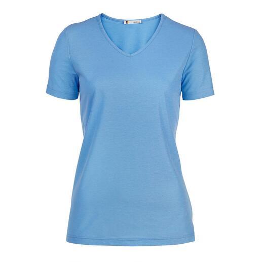 T-shirt à col V pour femme ou T-shirt à col rond pour homme SunSelect® Un bronzage sans trace grâce au jersey qui laisse passer les rayons du soleil.