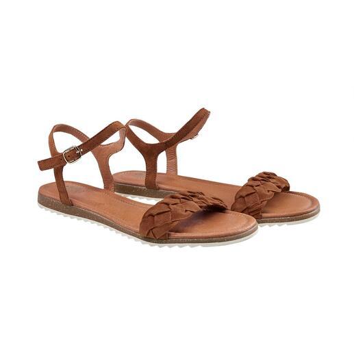 Sandale tressée Apple of Eden Incroyablement confortable et légère. Tendance puissance 5. Et très équitable.