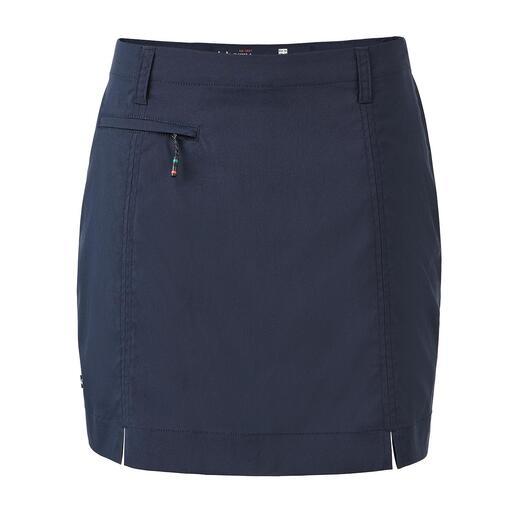 Skort technique Dubarry Skort : une jupe vue de l'extérieur, un short à l'intérieur. La jupe technique ingénieuse de Dubarry.