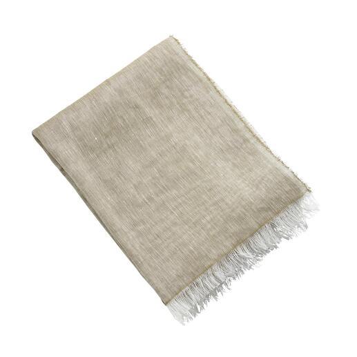 Foulard d'été Hohenberger Le foulard d'été en lin et coton : doux au toucher. Effet mélangé intéressant.