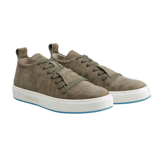 Sneaker en suède Chaaya Épurée, polyvalente, intemporelle, de haute qualité ... et incroyablement confortable.