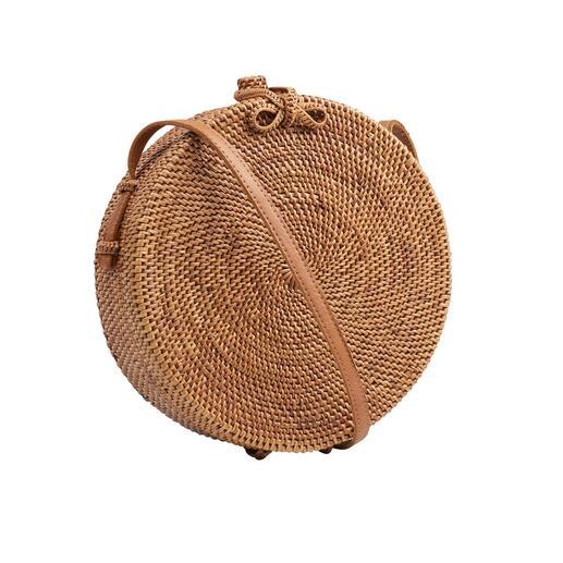 Sac rond à bandoulière ata Bali-Bali® La production de ce sac tendance nécessite plusieurs semaines. Mais l'effort en vaut la peine.
