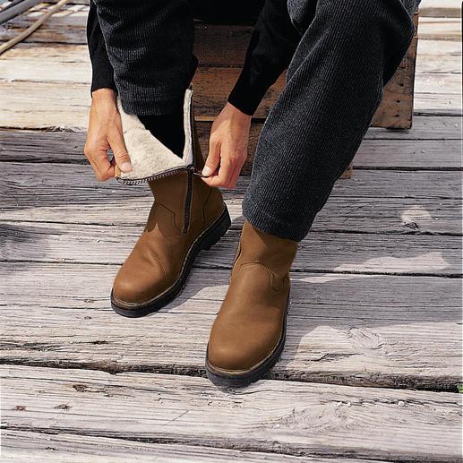 Bottes en cuir Le froid, la boue et la neige – aucun problème pour ces bottes en peau.