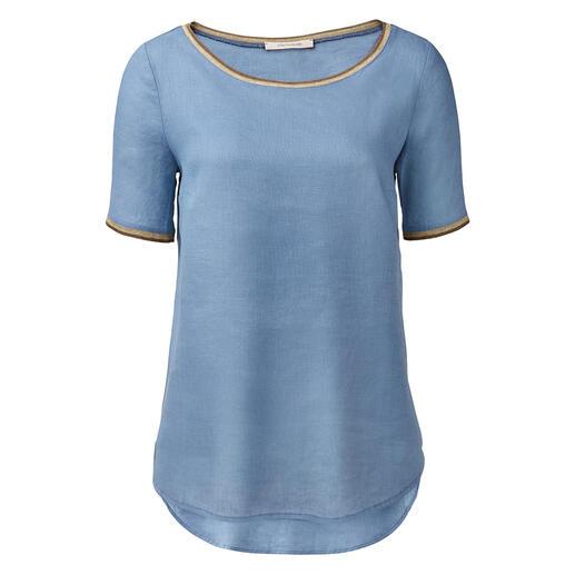 Shirt en lin La Fée Maraboutée Aéré et léger comme une tunique. Féminin et élégant comme un chemisier. Aussi simple d'entretien qu'un t-shirt.