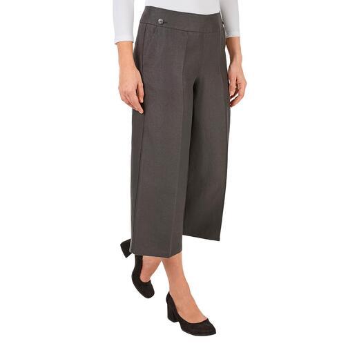 Pantalon à jambes larges en chanvre Tendance et écologique : le pantalon à jambes larges raccourci en 100 % chanvre.