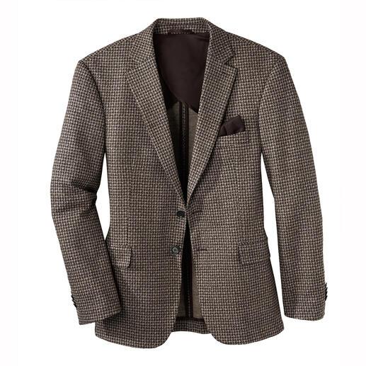 Veste en jersey de laine et soie Aussi noble qu'une belle veste sur mesure. Aussi confortable que votre cardigan préféré.