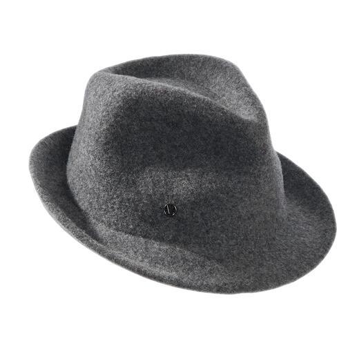 Trilby en laine bouillie pour femme Loevenich Le chapeau pour femme à la forme trilby tendance : foulé au lieu de feutré pour plus de confort.