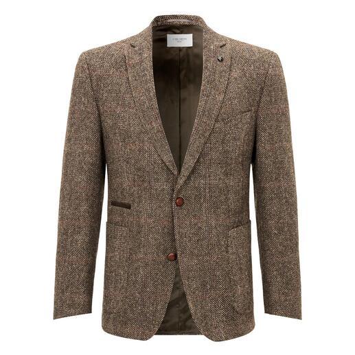 Veston en tweed Harris Carl Gross Le tweed Harris original des Hébrides extérieures, mais bien plus fin et léger que la normale.