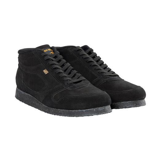Sneaker hivernales Norman Walsh Velours de veau imperméable. Semelle isolante en crêpe. Doublure polaire chaude.