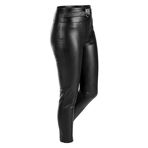 Pantalon Similpelle Pinko Aussi doux et noble que le cuir. Mais plus facile d'entretien et moins cher : le pantalon  de Pinko.