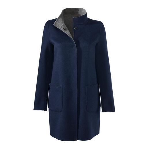 Veste longue double-face Schneiders Fabriqué à partir d'un mélange luxueux de laine vierge et de cachemire.