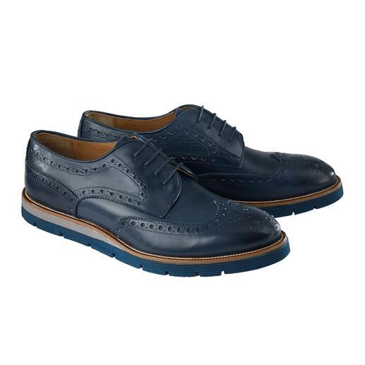 Chaussures Budapest 2.0 Cuir de veau souple. Semelle légère en EVA. Couleurs à la mode. Fabriqué en Italie et poli à la main.