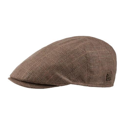 Casquette plate en lin et laine La casquette plate pour la mi-saison. Faite de lin et de laine vierge. Par Mayser, depuis 1800.