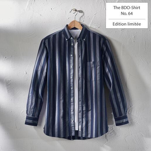 The BDO-shirt, Limited Edition No. 64 Redécouvrez une bonne vieille amie. Et oubliez qu'une chemise doit être repassée.