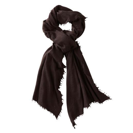 Écharpe en cachemire 4-saisons Un feutrage soigné à la main rend cette luxueuse écharpe en cachemire encore plus douce.