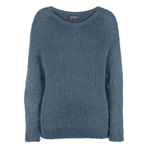 Pull en mohair Seldom La nature à l'état pur : le mohair, le coton de Gizeh et la soie rendent ces tricots si nobles.