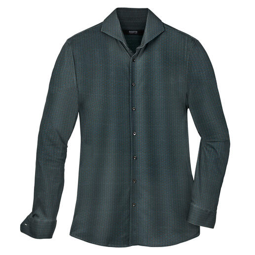 Chemise en jersey Desoto Coton Supima® à longues fibres. Double mercerisation. Boutons de nacre véritable.