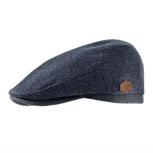 Casquette plate en laine et soie MJM La casquette plate faite d'un rare mélange de laine et de soie. Du spécialiste du chapeau MJM, depuis 1829.