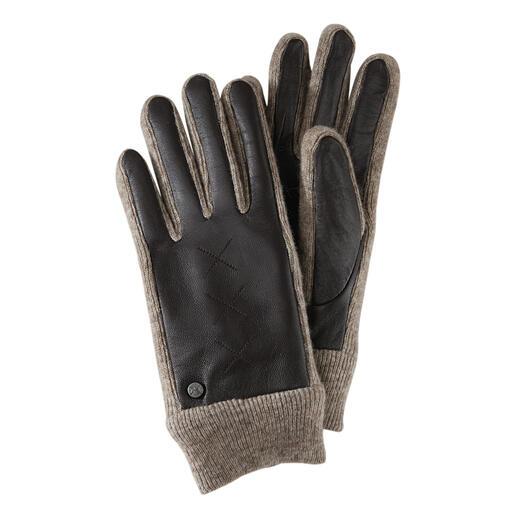 Gants Smart Casual Les inserts en tricot élastique rendent ces gants en cuir de chèvre nobles si flexibles.