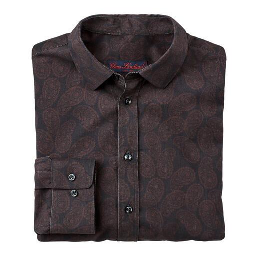 Chemise en velours côtelé et Paisley La chemise en velours côtelé réchauffant et au motif Paisley classique.