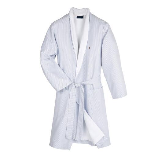 Peignoir Oxford Ralph Lauren Peu de peignoirs sont aussi stylés : tissu chemise oxford à l'extérieur, tissu éponge absorbant à l'intérieur.