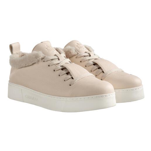 Sneaker en cuir d'agneau Chaaya Conception stylée. Aspect élégant et épuré. Doublure en cuir d'agneau souple. Finition de haute qualité rare.