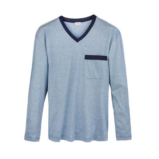 Pyjama noble Zimmerli Coton Pima des USA. Soie de Chine. Lin de Belgique. Fabriqué en Suisse.