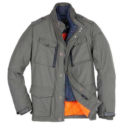 Veste d'aviateur en nylon Schott NY La veste militaire tendance : autrefois inventée pour l'armée américaine. Aujourd'hui améliorée spécialement pour vous.