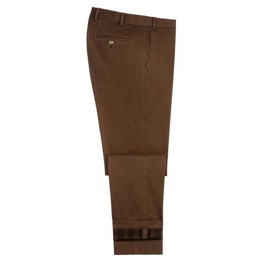 Chino thermique Hiltl Ne nécessite aucune doublure supplémentaire : le chino thermique du spécialiste du pantalon Hiltl/Allemagne.