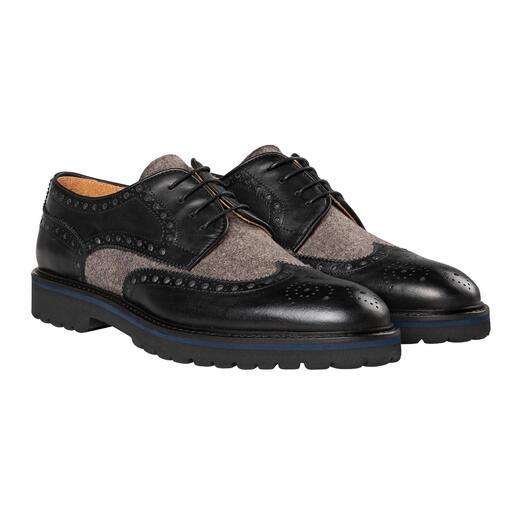 Chaussures Budapest en loden Grâce au mélange de loden, elles ne sont plus uniquement réservées aux rendez-vous d'affaires.
